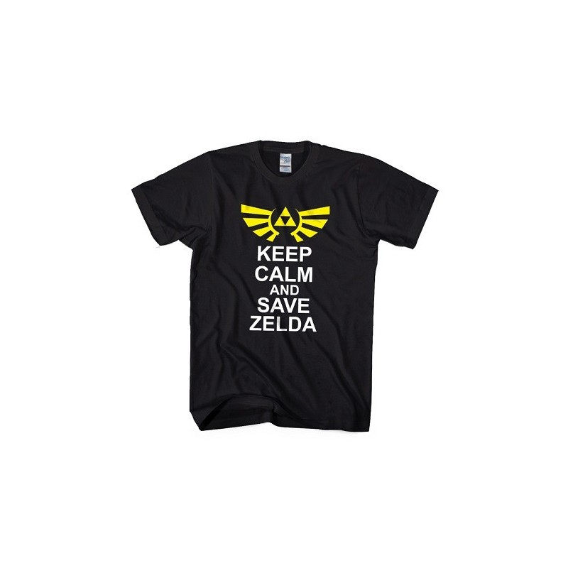T-Shirt Keep calm and save Zelda