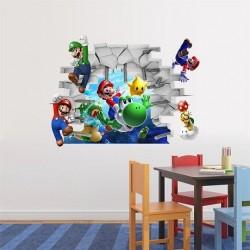Stickers muraux Mario et Yoshi