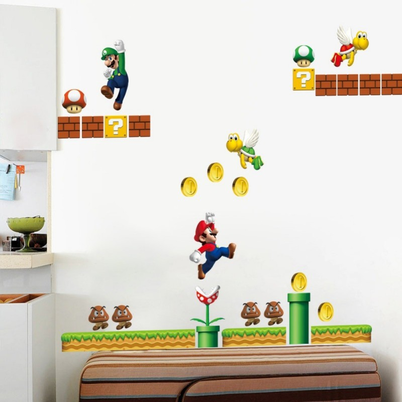 Stickers muraux Mario level 1