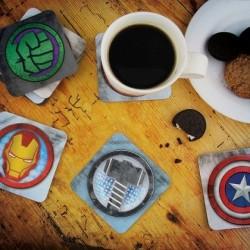 8 dessous de verres Avengers