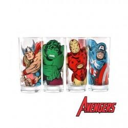 Set 4 verres Héros Avengers