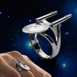 Bague en argent Star Trek vaisseau Enteprise