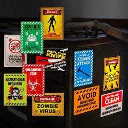Lot de Stickers Zombie Warning