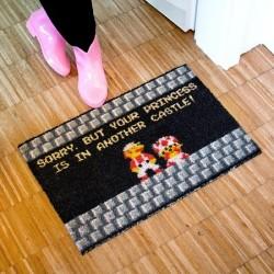 "Paillasson Super Mario ""princesse château"""
