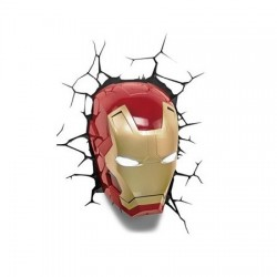 Marvel Comics lampe 3D LED Iron Man Mask