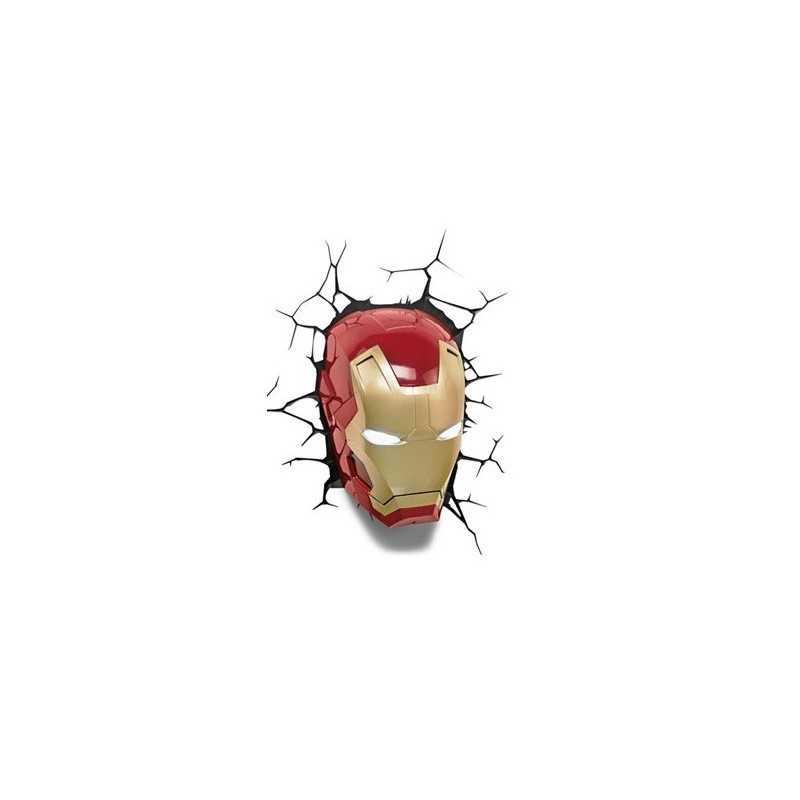 Marvel Comics lampe 3D LED Iron Man Mask