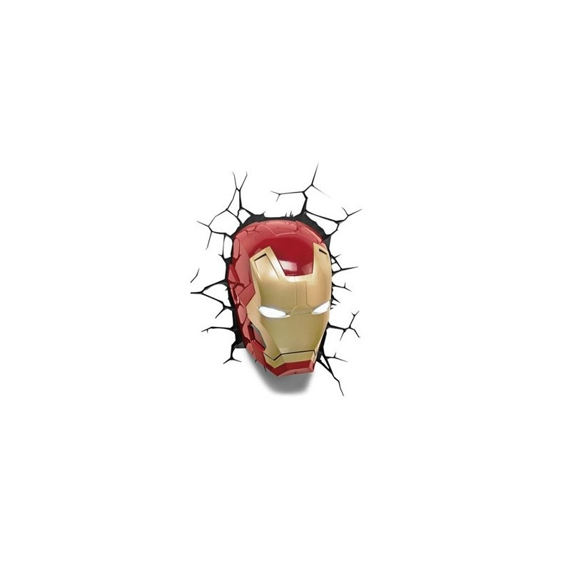 3d Vendugeek Led Comics Mask Iron Marvel Lampe Man qSVzMpU