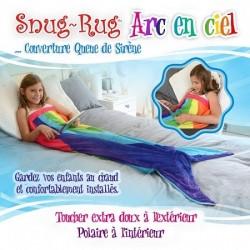 Couverture queue de sirène enfant