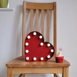 Lampe cœur à leds