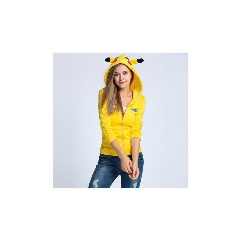 Sweat à capuche Pikachu Pokemon