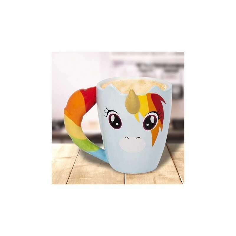 Mug Licorne 3D Arc en ciel