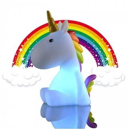 Veilleuse licorne Multicolore arc en ciel