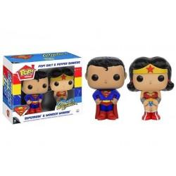 Set salière et poivrière Pop Superman et Wonder Woman