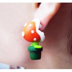 Boucles d'oreilles Mario Piranha Plant