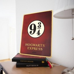 Poster Métal Harry Potter Hogwarts Express
