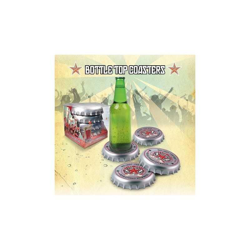 4 dessous de verres capsule de bière
