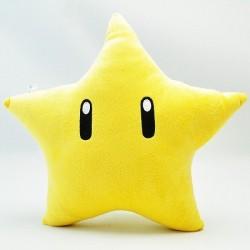 Coussin étoile et fleurs Super Mario
