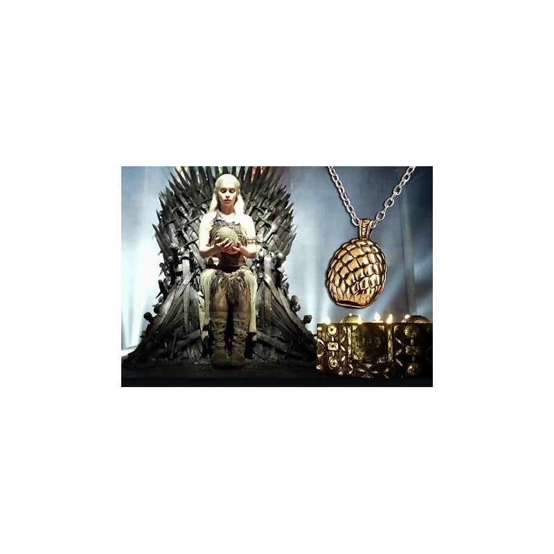 Collier œuf de dragon Game Of Thrones