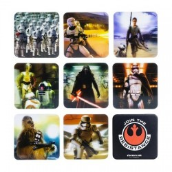 Pack 9 sous-verres effet relief Star Wars VII