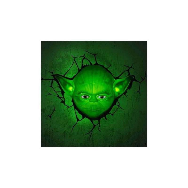 Lampe murale 3D Star Wars Yoda