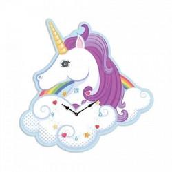 Horloge Licorne arc en ciel