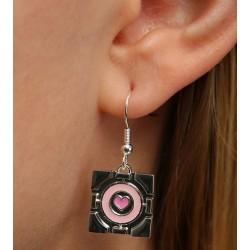 Boucles d'oreilles Companion Cube Portal 2