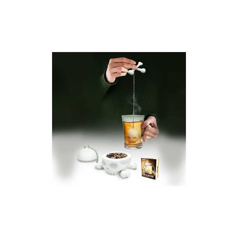 Infuseur de thé crane de squelette