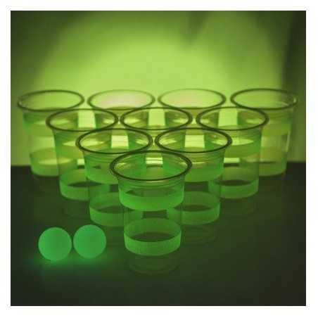 Jeu du Beer Pong Phosphorescent