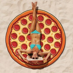 Serviette de plage pizza