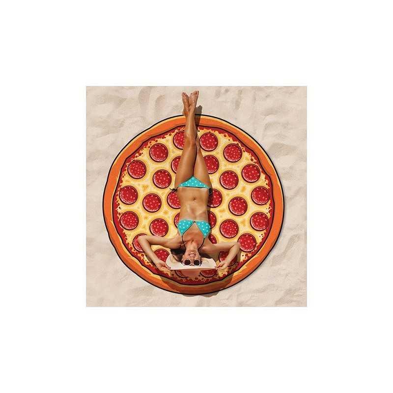 Serviette de plage pizza