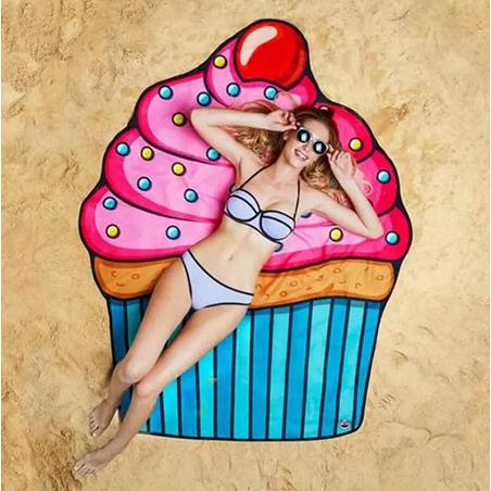 Serviette de plage crème glacée