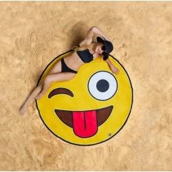 Serviette de plage emoji