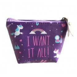 Porte monnaie Licorne I Want It All