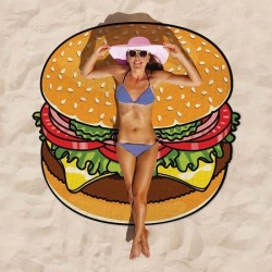 Serviette de plage Hamburger