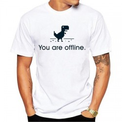 T-Shirt dinosaure google You are Offline