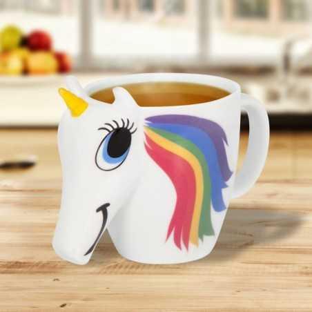 Mug 3D thermoréactif Licorne