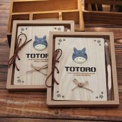 Carnet de note Totoro et crayon en bois