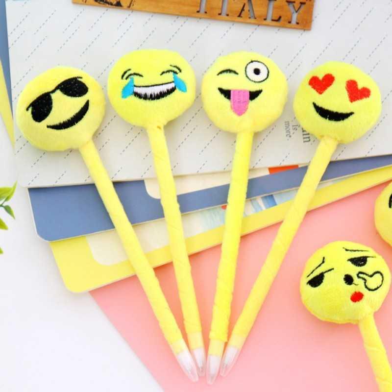 Lot 4 Stylo peluche emoji
