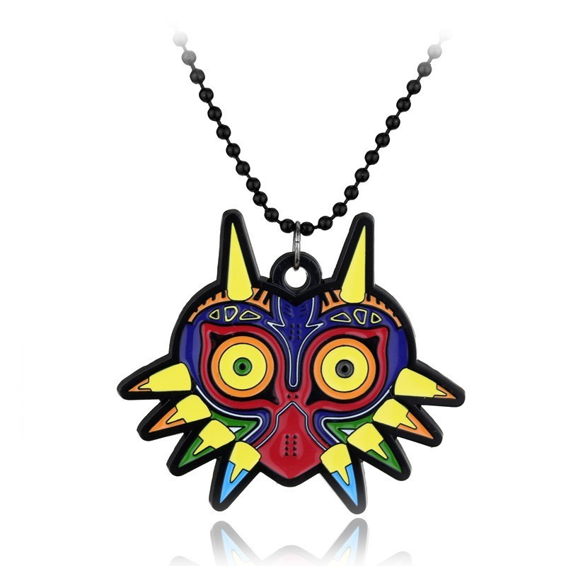 Collier Zelda coloré Majoras Mask
