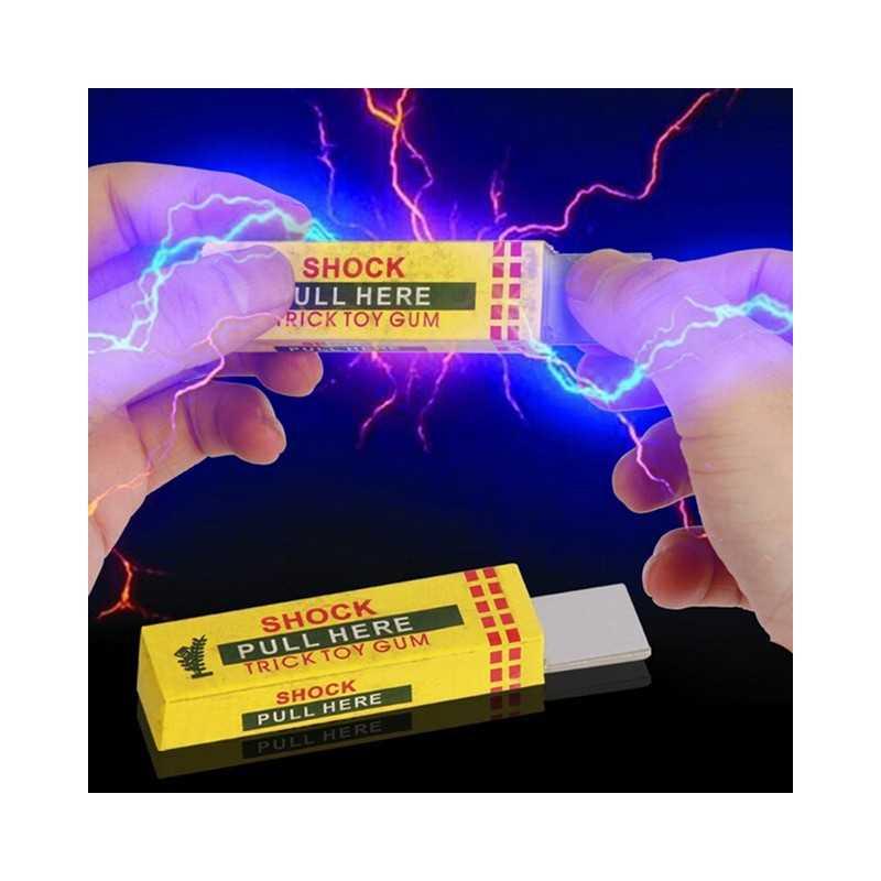 Chewing gum choc electrique