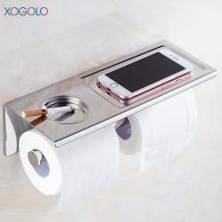 Distributeur de papier toilette support smartphone