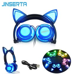 Casque audio à LED oreilles de chat