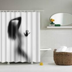 Rideau de douche ombre femme sexy
