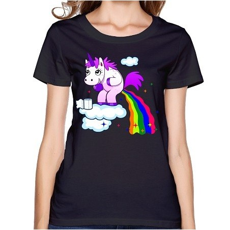 T-Shirt Licorne Pet Arc-En-Ciel