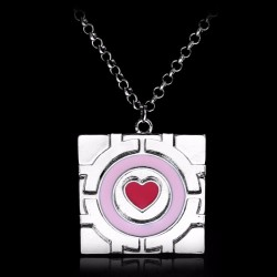 Collier Portal Compagnion cube