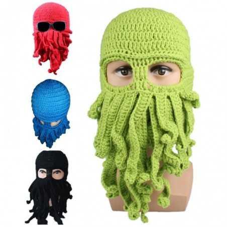 Bonnet tentacules pieuvre