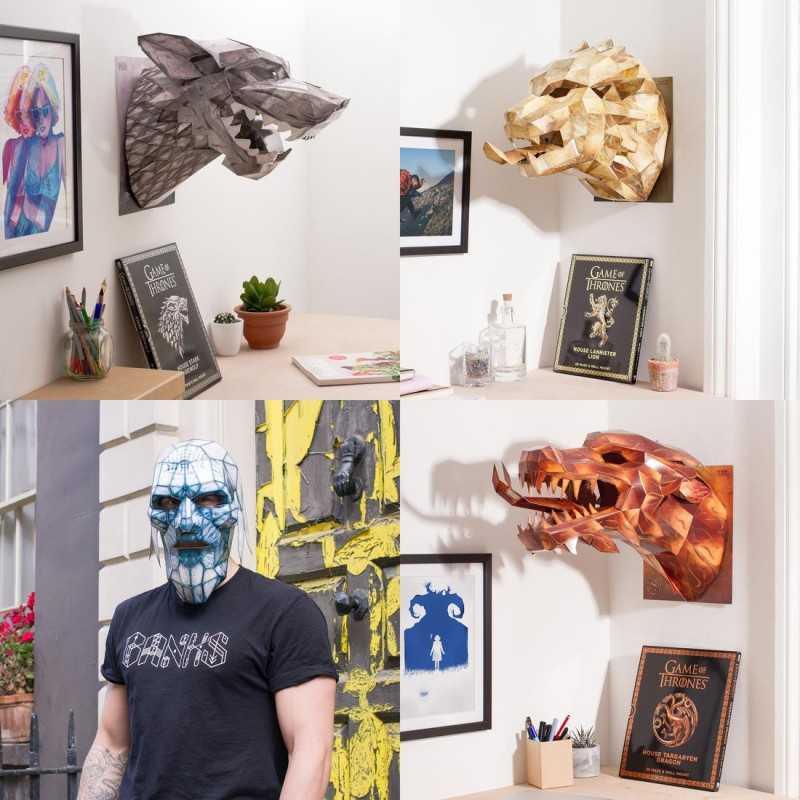 Sculptures en papier Game of Thrones