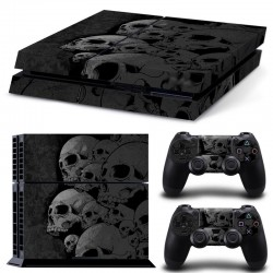 Sticker Console Playstation 4 Têtes Squelette