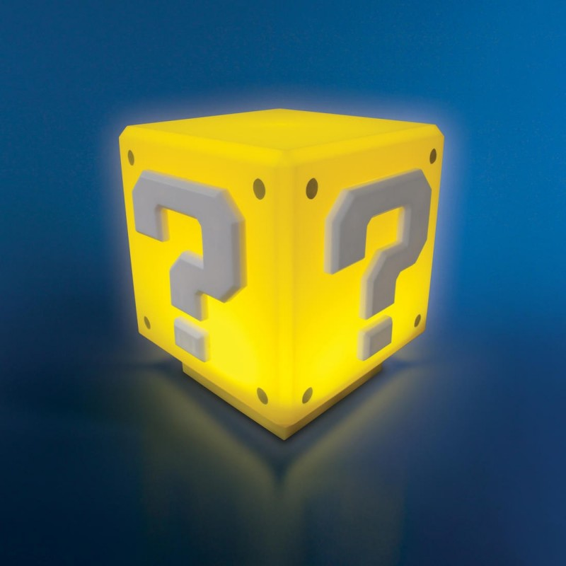 Lampe Super Mario Question block