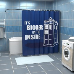 Rideau de douche Doctor Who Tardis Bigger Inside